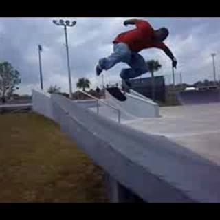 Backside Kickflip at Daytona Beach