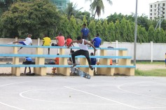 James Komba with Kickflip earlier during open practise sessions.